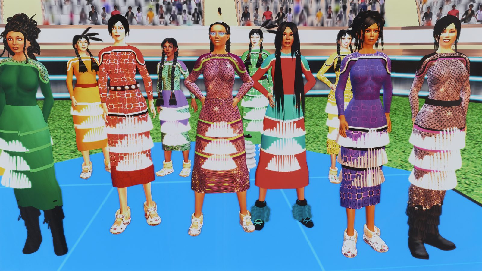 Jingle Dancers Assembled